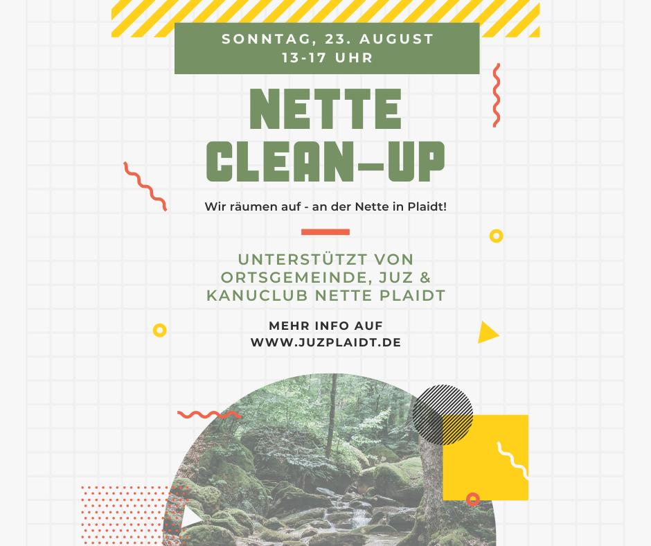 Nette Clean-Up am 23. August – Aufräumtag an der Nette in Plaidt wird auch vom JUZ unterstützt