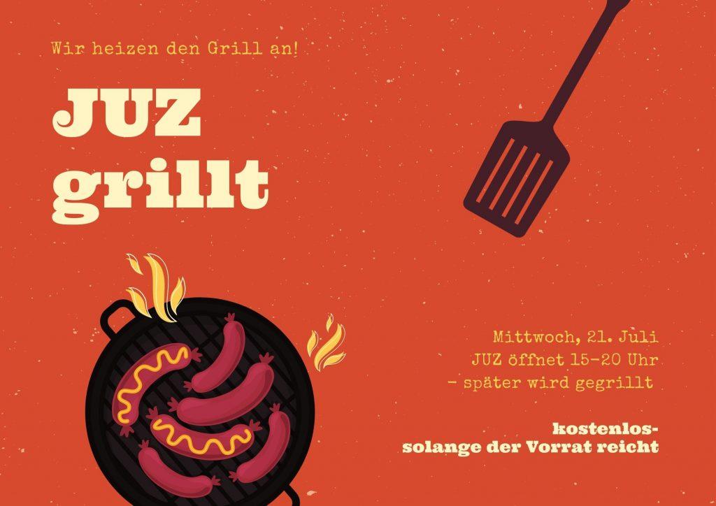 Mittwoch 21. Juli: JUZ grillt